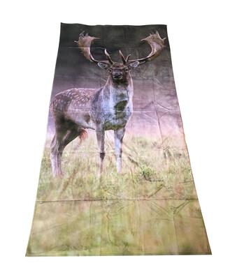 Badehåndklæde med print af Dåhjort