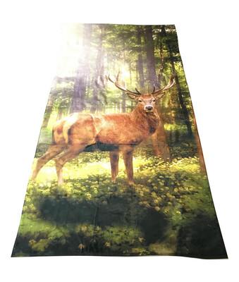 Badehåndklæde med print af Kronhjort