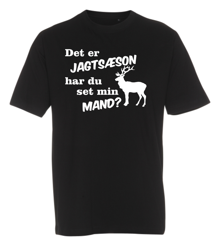 T-shirt med tryk fra XS til str. 4-XL