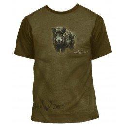 T-shirt med print af Vildsvin