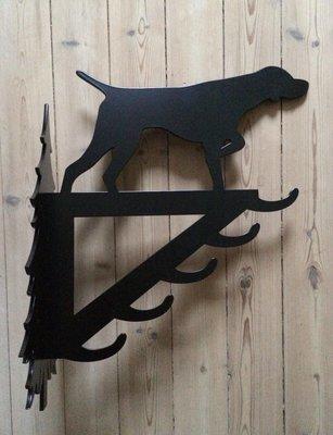 Stor vildtkrog - Stående hund