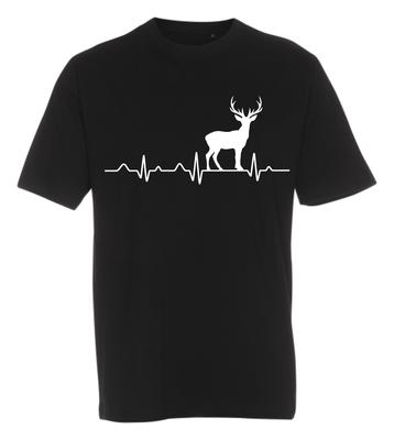 T-shirt med tryk fra XS til str. 4-XL - Jagtdyr