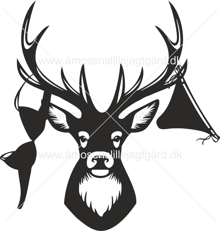 Folie-/Strygemærke - Hjort med undertøj