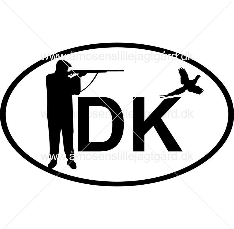 Folie-/Strygemærke - DK mærke m. haglgevær