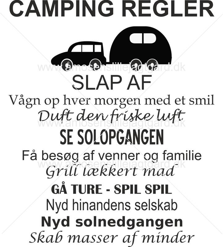 Folie-/Strygemærke - Camping regler