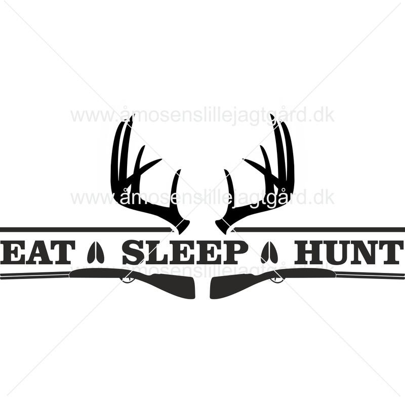Folie-/Strygemærke - Eat Sleep Hunt