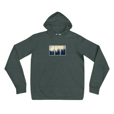 Downstream Men's (Uni) Pines Triptych Fleece Hoodie