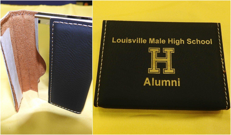 Leather Business Card Holder (Black)