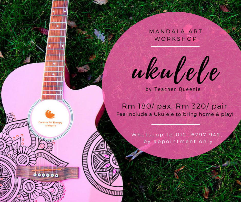 ☸ ☸夏日 の 曼陀罗画🎸🎸  *Mandala Ukulele Workshop*