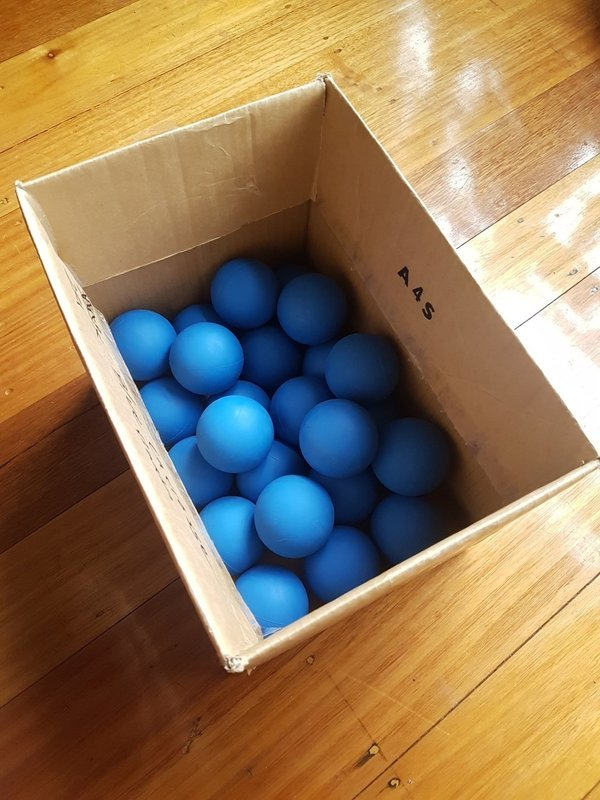 Lacrosse Ball Box 24 (Blue, Red Or Mix)