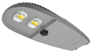 LED - COB Street Light / Cobra Head - L2 (2 Lens)
