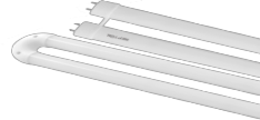 LED - T8 - Narrow U-Bend Tubes - 120� Beam