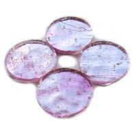 Mirror Circles 25mm, Pink Ice