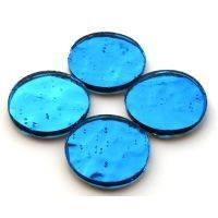 Mirror Circles 25mm, Peacock Blue