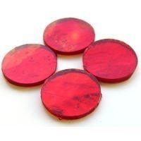 Mirror Circles 25mm, Red