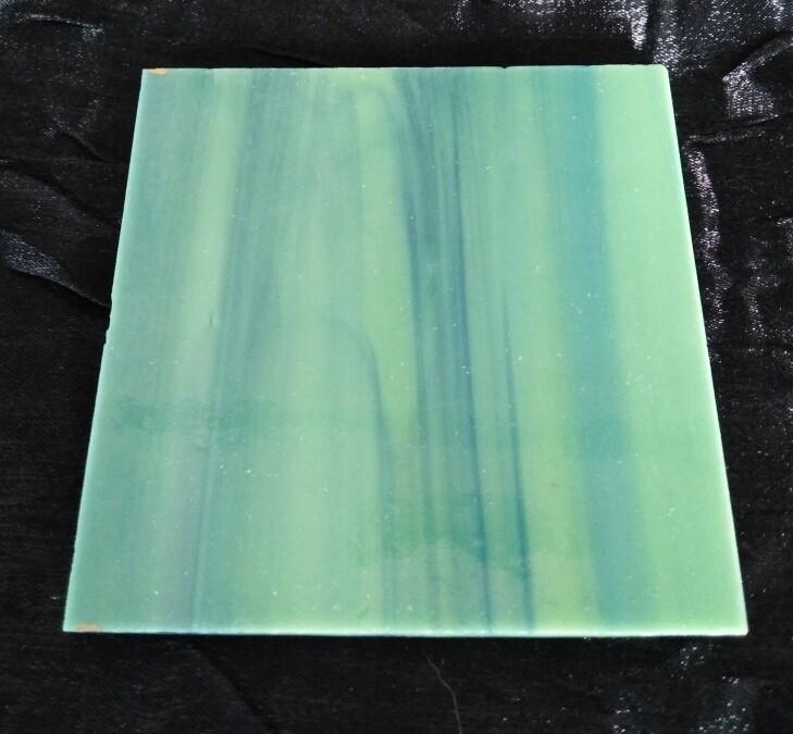 Wissmach Blue wispy on Olive Green