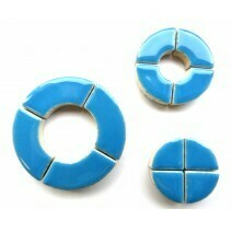 Ceramic Circles: Thalo Blue