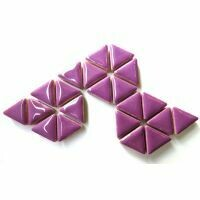 Ceramic triangles: Pretty Purple