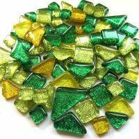 Glitter Glass: Lemon Lime mix
