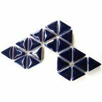 Ceramic triangles: Indigo