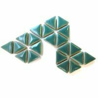 Ceramic triangles: Phthalo Green