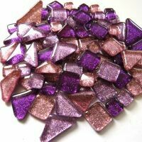 Glitter Glass: Pom Pom purple mix