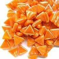 Glass Triangles 10mm: Iridised opal orange