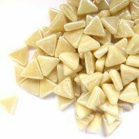 Glass Triangles 10mm: Iridised cream