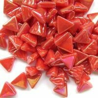 Iridised watermelon, triangles