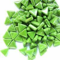 Iridised new green, triangles