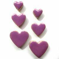 Ceramic hearts, pretty purple