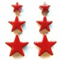 Ceramic Stars, poppy red