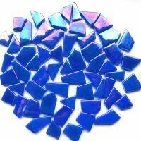 Glass Snippets: Iridised Brilliant Blue
