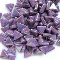 Iridised bright purple, triangles