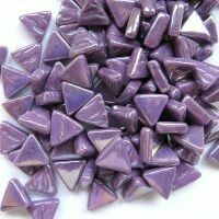 Iridised bright purple, triangles