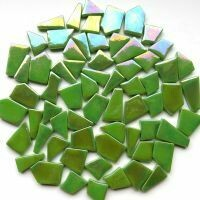 Glass Snippets: Iridised New Green