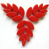 Glass Petals, Bright Red