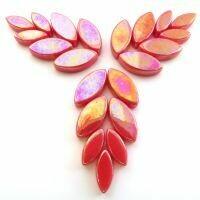 Glass Petals, Iridised Watermelon