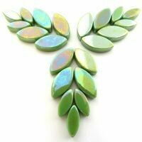 Glass Petals, Iridised New Green