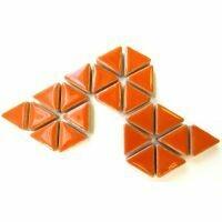 Ceramic triangles: Popsicles orange