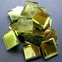 Mirror squares, Gold, 20mm x20mm