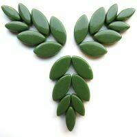 Glass Petals, Pine Green