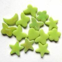 Glass Charms - Acid green