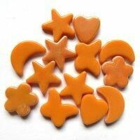 Glass Charms - Orange