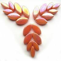 Glass Petals, iridised Apricot
