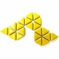 Ceramic triangles: Citrus Yellow