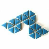 Ceramic triangles: Thalo Blue
