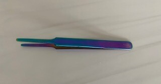 Stainless steel tweezers, flat tip