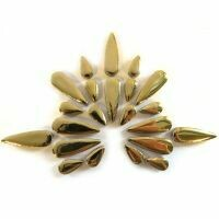 Ceramic Teardrops: Gold