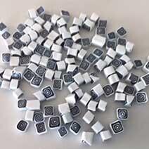 Millefiori: 4/5 Black and white squares